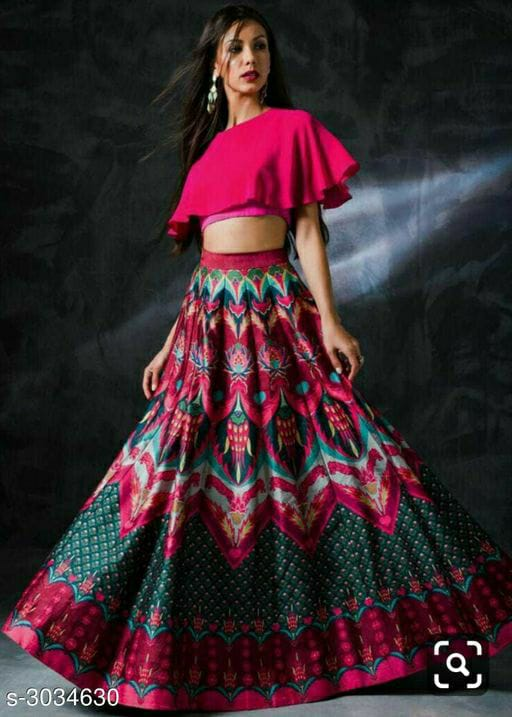 Cape Choli With Printed Dupatta