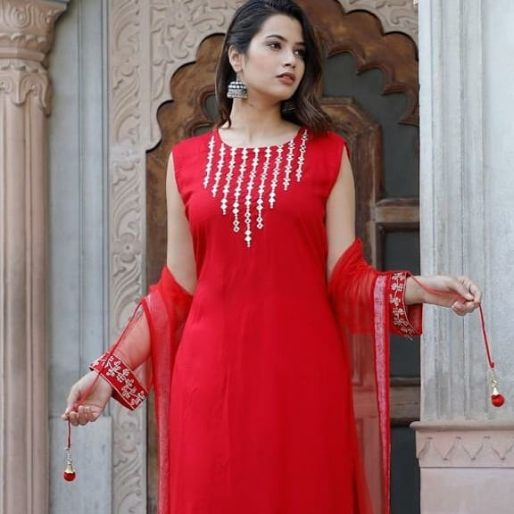 Red kurti design catalogue