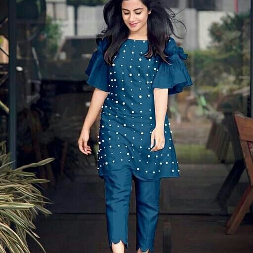 blue kurti design catalogue