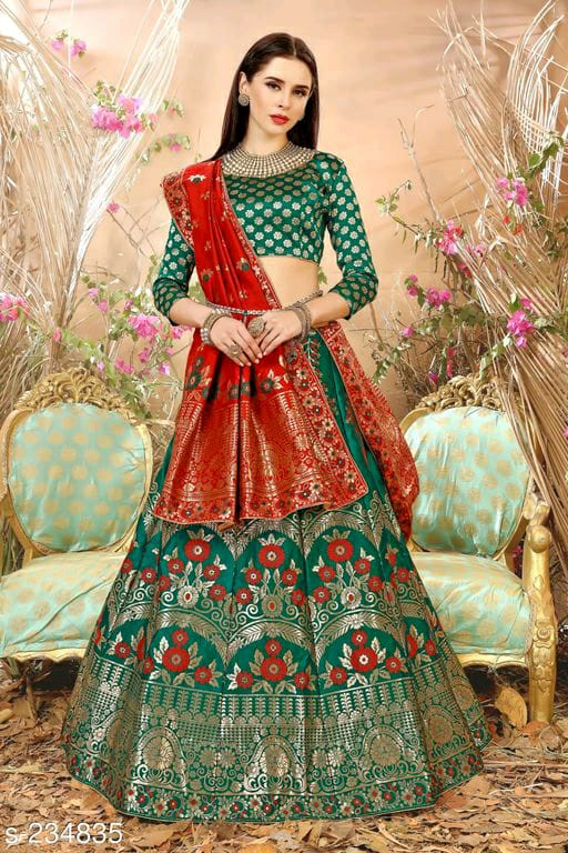 Majestic Banarasi Silk Lehenga Choli Set