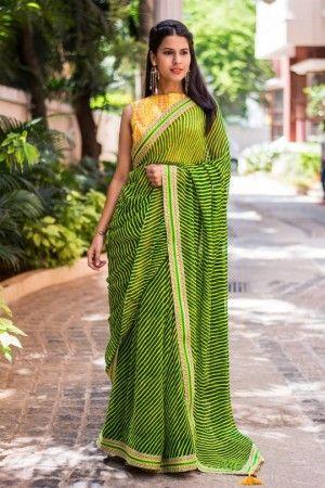 Designer Leheriya Saree