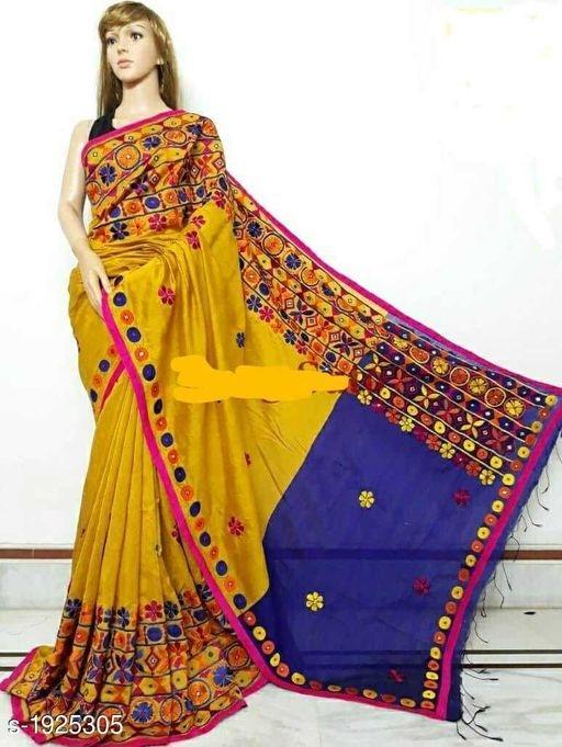 Designer Phulkari Saree