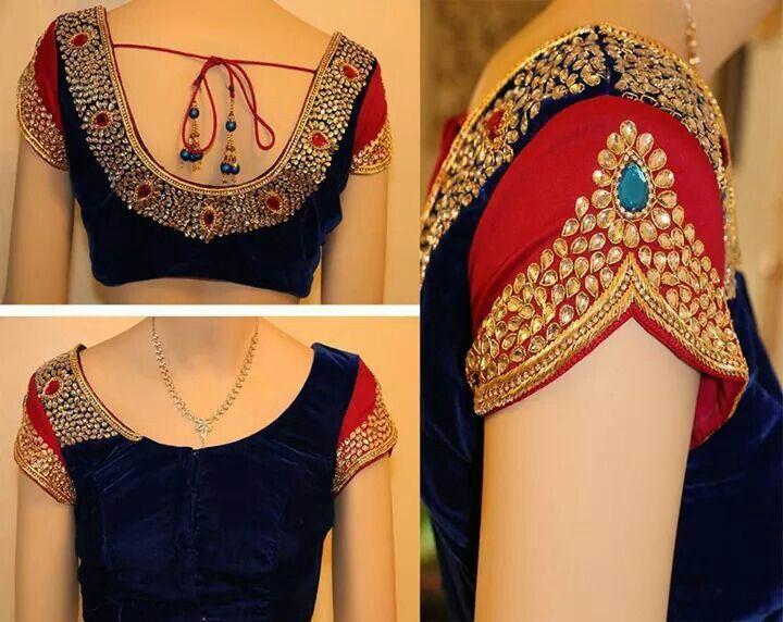 petal sleeve blouse design