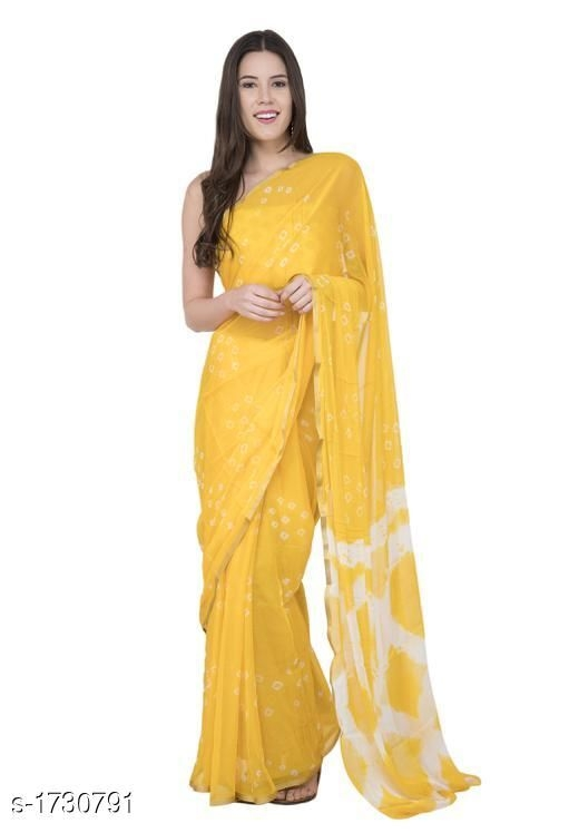 Designer Bandhani Saree Chiffon